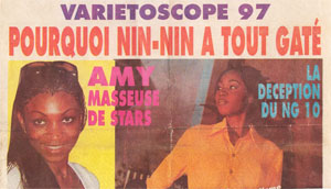 Top Visage, Amy masseuse de stars